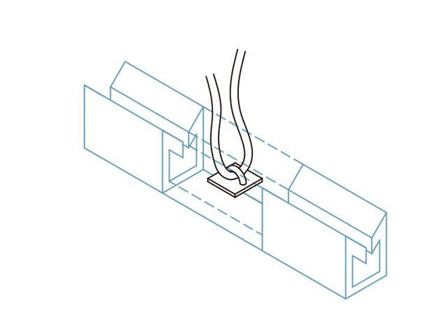 """Suspensor para cabo de aço Ø 1/8"""""""