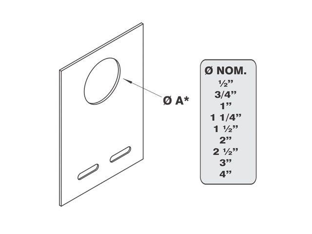 Saída horizontal para eletroduto