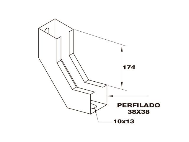 Curva vertical interna para perfilado