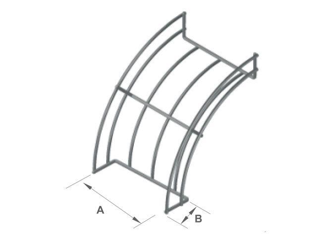Curva vertical externa 90º