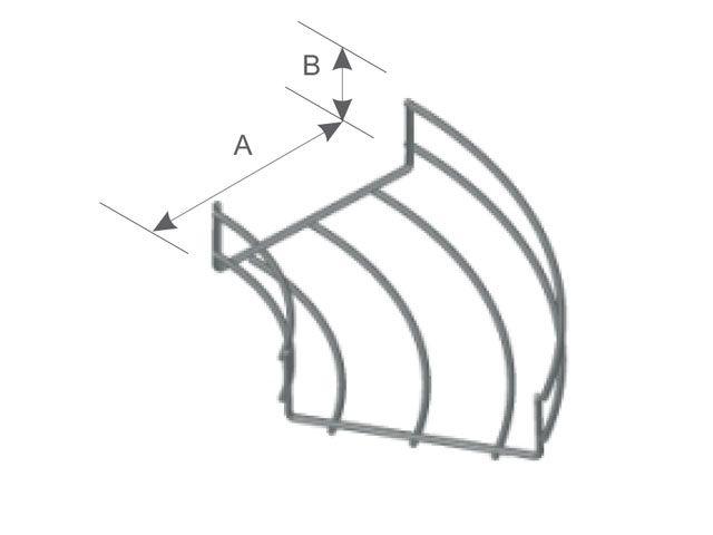 Curva horizontal 45º