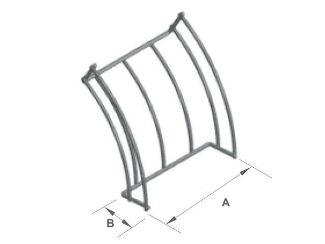 Curva vertical externa 45º