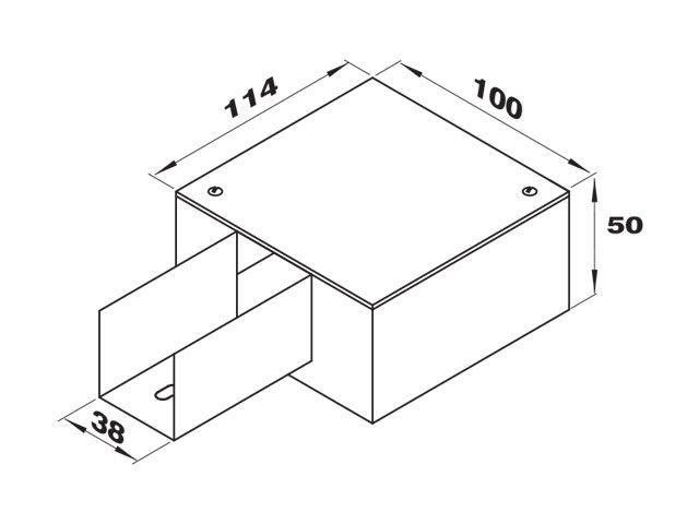 """Caixa de derivação """"I"""" para perfilado duplo"""
